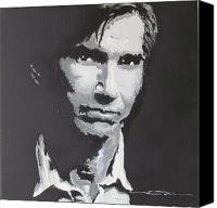 Singer Drawings Canvas Prints - Townes Van Zandt  Canvas Print by Eric Dee