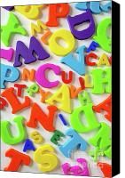 Reading Canvas Prints - Toy Letters Canvas Print by Carlos Caetano