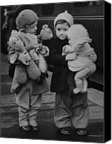 Consoling Canvas Prints - Toy Luggage Canvas Print by Keystone