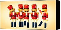 Holiday Canvas Prints - Toy Soldiers Nutcracker Canvas Print by Bob Orsillo
