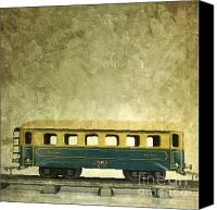 Miniature Canvas Prints - Toy train Canvas Print by Bernard Jaubert