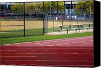 Field Sports Canvas Prints - Track and Baseball Diamond Canvas Print by Inti St. Clair