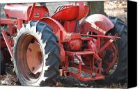 Tractor Wheel Canvas Prints - Tractor Canvas Print by Peter  McIntosh