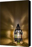 Moroccan Canvas Prints - Traditional Lantern At Riad Dar Hanane Canvas Print by Axiom Photographic