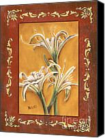 Lilies Canvas Prints - Traditional Lily 2 Canvas Print by Debbie DeWitt