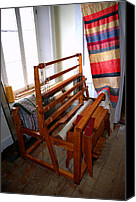 Cloth Tapestries - Textiles Canvas Prints - Traditional Weavers Loom Canvas Print by LeeAnn McLaneGoetz McLaneGoetzStudioLLCcom