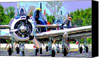 Aircraft Poster Photo Canvas Prints - Traffic Canvas Print by Dieter  Lesche