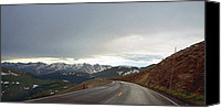 Scenic Roads Canvas Prints - Trail Ridge Road Canvas Print by Thomas Bomstad