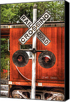 Childs Canvas Prints - Train - Yard - Railroad Crossing Canvas Print by Mike Savad