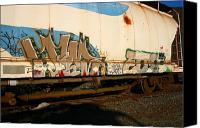 Rick Blood Canvas Prints - Train Art 7 Canvas Print by Rick  Blood