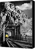 Harpers Ferry Canvas Prints - Train at Harpers Ferry Canvas Print by Williams-Cairns Photography LLC