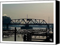 Dan Daulby Canvas Prints - Train Bridge Morning Canvas Print by Dan Daulby