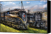 Vacation Canvas Prints - Train - Engine - 4919 - Pennsylvania Railroad electric locomotive  4919  Canvas Print by Mike Savad