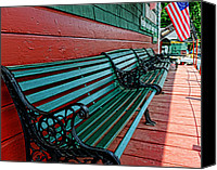 Country Decor Canvas Prints - Train Station waiting area Canvas Print by Paul Ward