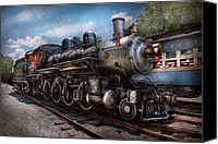 Horse Canvas Prints - Train - Steam - 385 Fully restored  Canvas Print by Mike Savad