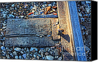 Blue Digital Art Special Promotions - Train Track1 Canvas Print by Lori Frostad