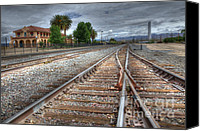 Kelso Canvas Prints - Train Tracks At Kelso Canvas Print by Bob Christopher