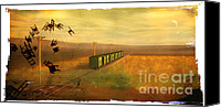 Rosy Hall Digital Art Canvas Prints - Train Unexplained Canvas Print by Rosy Hall