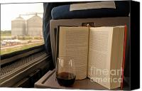 Wine Train Canvas Prints - Train window Canvas Print by Arvind Garg