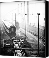Berlin Canvas Prints - Trains At Terminus At Warschauer Strasse, Berlin Canvas Print by Image by Ivo Berg (Crazy-Ivory)