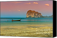 Thailand Canvas Prints - Trang LongBoat Canvas Print by Adrian Evans