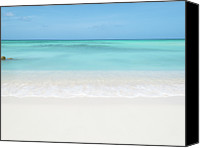 Cloud Glass Canvas Prints - Tranquil Beach Canvas Print by William Andrew