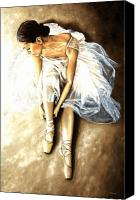 Dancer Painting Canvas Prints - Tranquil Preparation Canvas Print by Richard Young
