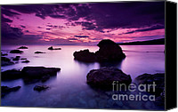 Greece Canvas Prints - Tranquil Sea Canvas Print by Richard Garvey-Williams