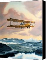 Airplane Painting Canvas Prints - Transatlantic Canvas Print by Kenneth Young