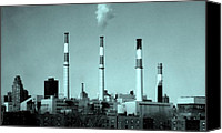 Long Island Canvas Prints - TRANSCANADA RAVENSWOOD POWER PLANT - Queens NY Canvas Print by Dan Haraga