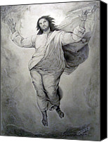 Miguel Rodriguez Canvas Prints - Transfiguration-Raphael Canvas Print by Miguel Rodriguez