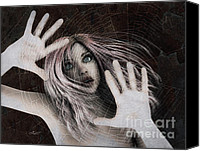 3d Graphic Canvas Prints - Trapped Canvas Print by Jutta Maria Pusl
