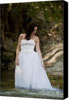 Woman In Water Photo Canvas Prints - Trash The Dress Bride Canvas Print by Andre Babiak