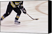 Skates Photo Canvas Prints - Traveling with the Puck Canvas Print by Karol  Livote