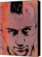Robert Deniro Canvas Prints - Travis Bickle Taxi Driver Canvas Print by Giuseppe Cristiano