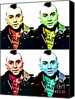 Robert Deniro Canvas Prints - Travis the Taxi Driver 2 Canvas Print by Spencer McKain