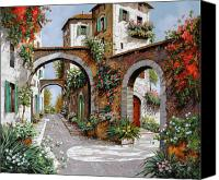 Tuscany Painting Canvas Prints - Tre Archi Canvas Print by Guido Borelli
