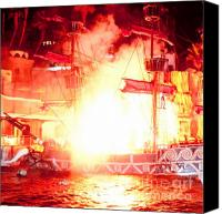 Flames Canvas Prints - Treasure Island Explosion Canvas Print by Andy Smy