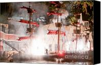Pirate Canvas Prints - Treasure Island Flashes Canvas Print by Andy Smy