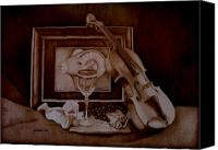 Still Life Pyrography Canvas Prints - Treasures Canvas Print by Jo Schwartz