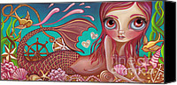 Jasmine Painting Canvas Prints - Treasures of the Sea Canvas Print by Jaz Higgins