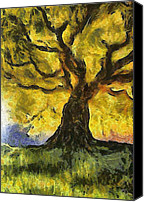 Gnarly Canvas Prints - Tree  a la Van Gogh Canvas Print by Gun Legler