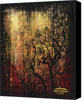 Scary Painting Canvas Prints - Tree Canvas Print by Arleana Holtzmann