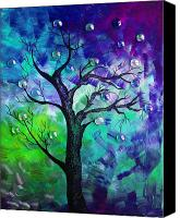 Dry Painting Canvas Prints - Tree Fantasy3 Canvas Print by Ramneek Narang