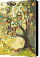 Modern Canvas Prints - Tree of Life in Autumn Canvas Print by Jennifer Lommers