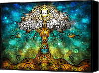 Ark Canvas Prints - Tree of Life Canvas Print by Mandie Manzano