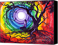 Still Life Tapestries Textiles Special Promotions - Tree of Life Meditation Canvas Print by Laura Iverson