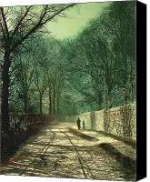 Atkinson Canvas Prints - Tree Shadows in the Park Wall Canvas Print by John Atkinson Grimshaw