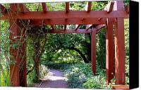 Debbie Canvas Prints - Trellised Walkway  Canvas Print by Deborah  Crew-Johnson