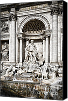 Neptune Canvas Prints - Trevi Fountain Detail Canvas Print by Joan Carroll